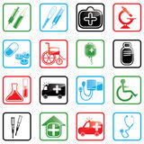 Icon set Medicine. Icon set with medical and healthcare icons Stock Image