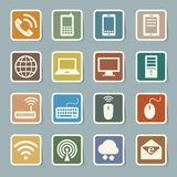 Icon set of mobile devices , computer and network  Royalty Free Stock Photo