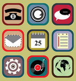 Icon Set for Mobile Phone Royalty Free Stock Photography