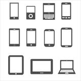 Icon set of mobile,tablet device for communication Stock Images