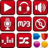 Icon set: music Royalty Free Stock Photo
