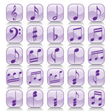 Icon set-Music notes Stock Photo