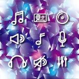 Icon set. Music and Sound design. Vector graphic Stock Photo