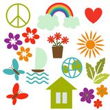 Icon set. Nature and environment Royalty Free Stock Image
