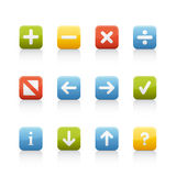 Icon Set - Navigation Buttons Royalty Free Stock Photos