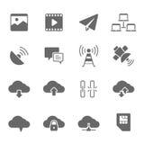 Icon set - network communication Stock Image