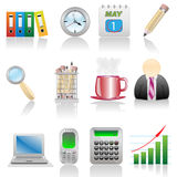 Icon Set-Office Royalty Free Stock Photography
