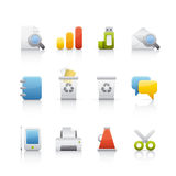 Icon Set - Office & Bussines Royalty Free Stock Photography