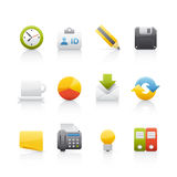 Icon Set - Office & Bussines Royalty Free Stock Images