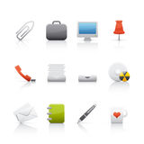 Icon Set - Office & Bussines Royalty Free Stock Photos