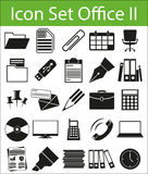 Icon Set Office II. With 25 icons for different purchase in graphic and web design Stock Photos