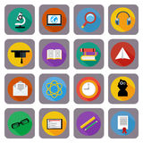 Icon set for online education, e-learning Stock Image
