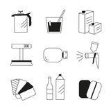 Icon set painter's equipments Stock Images
