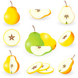 Icon Set Pear Royalty Free Stock Photography