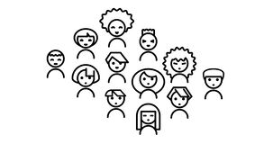 Icon set people in network