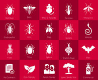 Icon set for pest control companies Stock Photos