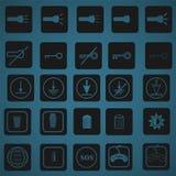 Icon set 4. 25 icon set for phone and pc Stock Photos