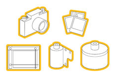 Icon set of photo equipment Royalty Free Stock Photos