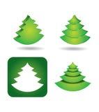 Icon set - pine tree Royalty Free Stock Images