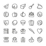 Icon set for pizzeria Stock Photo