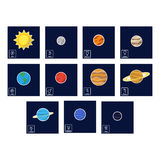 Icon set with Planets and astrology symbols of planets Royalty Free Stock Photos