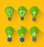 Icon set process of generating ideas to solve problems, birth of Royalty Free Stock Photo