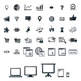 Icon set for programming, gaming Stock Photos