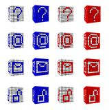 Icon Set of punctuation symbols Stock Image