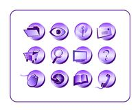 Icon Set Purple Royalty Free Stock Photography