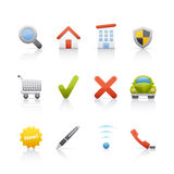 Icon Set - Real Estate Stock Photo