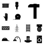 Icon set refit/ Vector icon refit/ Images refit/ Icon hammer, Royalty Free Stock Image
