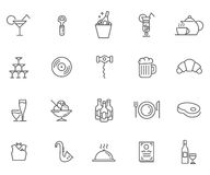 Icon Set For Restaurant, Cafe And Bar Stock Photos