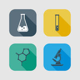 Icon set of science signs Royalty Free Stock Photo
