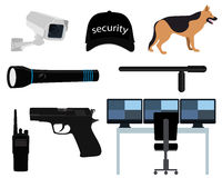 Icon set security Stock Images