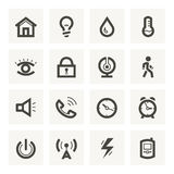 Icon set for security system and house automation. Vector light icons. Fitted to the pixel grid Stock Images