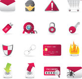 Icon Set Series - Web Security Stock Photos