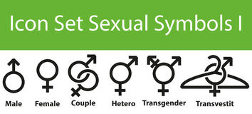 Icon Set Sexual Symbols I Stock Photos