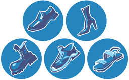 Icon set of shoes Stock Image