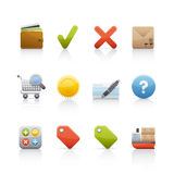 Icon Set - Shopping Stock Photography