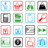 Icon set Shopping Stock Photo