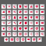 Icon set silver Royalty Free Stock Photo