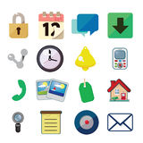 Icon set. Set of 16 simple vector icons Royalty Free Stock Photography