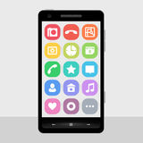 Icon set for smart phone screen stock photo