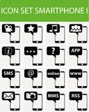 Icon Set Smartphone I Royalty Free Stock Photography