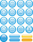 Icon Set- Smiley (Vector) Stock Photography