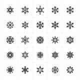 Icon set - snowflake filled icon Stock Photography