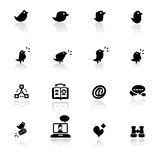 Icon set  Social networks Royalty Free Stock Image