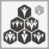 Icon set. Social roles. Icon set. Business man and carefree man Stock Photos