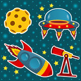 Icon set space Stock Photo