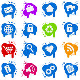 Icon set on splats Royalty Free Stock Photography